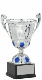 Silver Soccer Metal Cup
