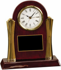 T005 Rosewood Piano Finish Rectangle Desk Clock