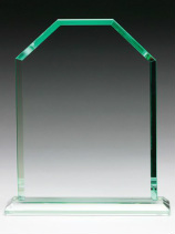 Monarch Jade Glass Trophy Award