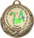 Full Color Torch Medal HR904 Custom Printed