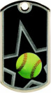 DT108 Softball Sports Dog Tag
