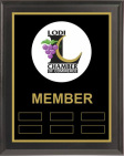 Black Matte Chamber of Commerce Plaque