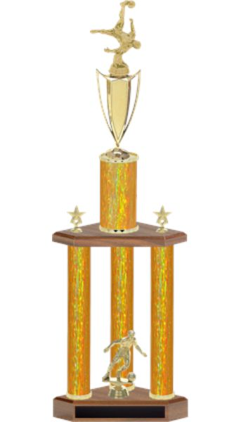 GOLD TROPHY 3 COLUMN BIG
