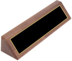 DS12 Genuine Walnut Desk Name Wedge