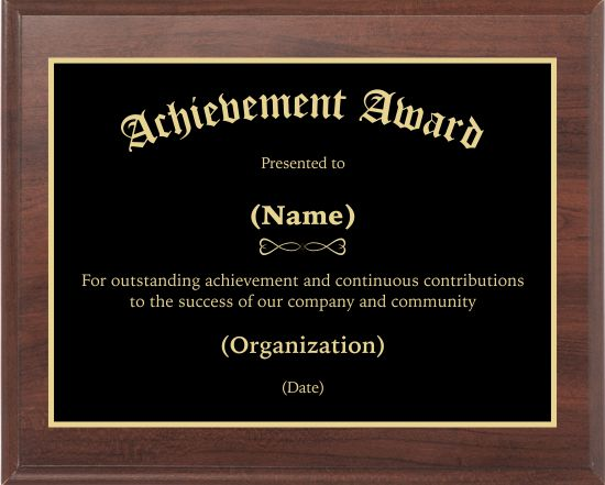achievement award 2 award plaque custom award