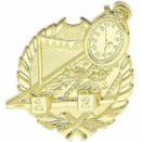 Swimming Gold Wreath Sport Plaque 1072-G