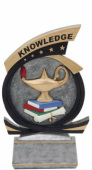 81563GS Lamp of knowledge Gold Star Resin