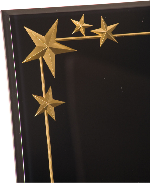 Profile Carved Star Acrylic Plaque Awards CRV8BK