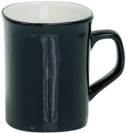 LMG41 Black Round Corner Lesarable Ceramic Mug