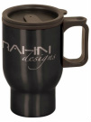 Gloss Orange Travel Insulated Mug engraved