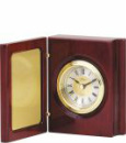 Q140 Rosewood Piano Finish Book Clock Large
