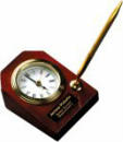 T063 Rosewood Piano Finish Desk Clock with Pen