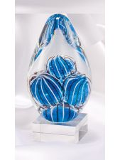 CLSC31 Blue Orb Art Glass Sculpture Award