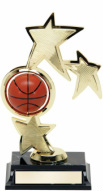 Spining Basketball star Basketball Trophy