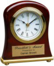 T006 Rosewood Piano Finish Bell Shape Desk Clock