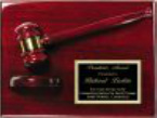 GV-AGP30 Rosewood Piano Finish 9x12 Gavel Plaque