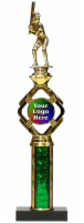 Single Column Baseball Trophy Logo Holder