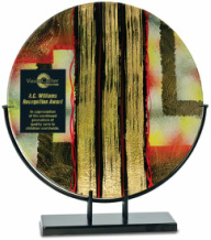 AGS41 Round Golden Specks Art Glass Award