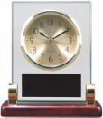 T136 Rosewood Piano Finish and Metal Clock With Post