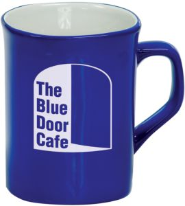 LMG43 Blue Round Corner Lesarable Ceramic Mug