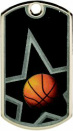 DT102 Basketball Sports Dog Tag