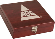 FSK01 Rosewood Finish Cards & Dice Game Set