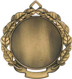 Leaf Insert Holder Medal Gold HR921G