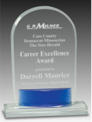 Blue Arch Crystal Award CRY540