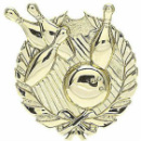 Bowling Gold Wreath Sport Plaque 1057-G