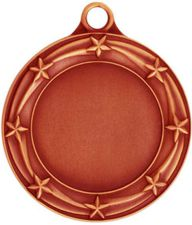 Star Bronze Medal Custom Printed 033AB