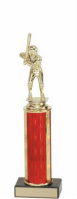 Small Baseball trophy Black Base