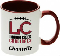 Tone Red and White Custom Printed Mug with logo