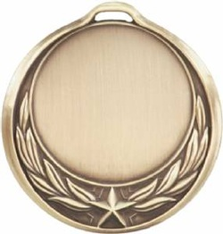 Star Wreath Design Medallion Gold HR909G
