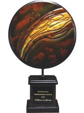 Round Metal Glass Award DTGL1