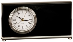 T361 Black Piano Finish Horizontal Desk Clock