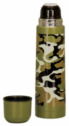 LTH006 Camouflage Stainless Steel Insulates Bottle Custom Lasered