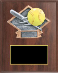 Diamond Plate Sports Plaque Elegant Cherry Plaque
