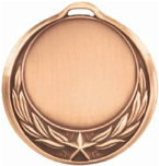 Star Wreath Design Medallion Bronze HR909B