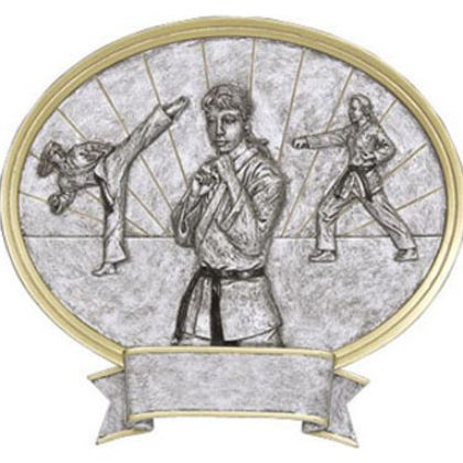 Karate Female Legend Plaque Awards 54627GS