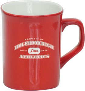 LMG42 Red Round Corner Lesarable Ceramic Mug