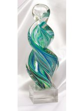 CLSC8 Twisted Art Glass Sculpture Award