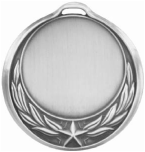 Star Wreath Design Medallion Silver HR909S
