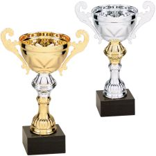 CMC 250 Compleated Gold Silver Cup Black Marble Base