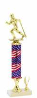 Baseball trophy American Flag Column BAS020