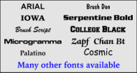 License Plate Engraving Fonts