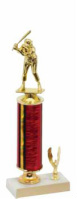 Red Column Baseball Trophy