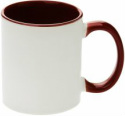 MUGG23 2 Tone Red and White Custom Printed Mug