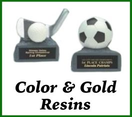 Color & Gold Resin Awards