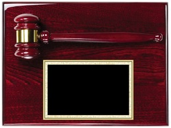 GV-AGP35 Rosewood Piano Finish 9x12 Gavel Plaque