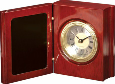 T140  Rosewood Piano Finish Book Clock